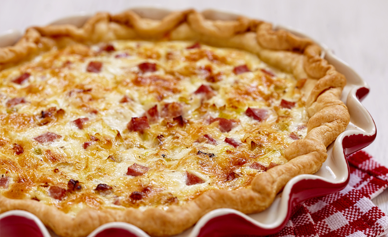 quiche con salame home